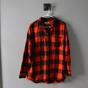Old Navy Red Buffalo Check Flannel